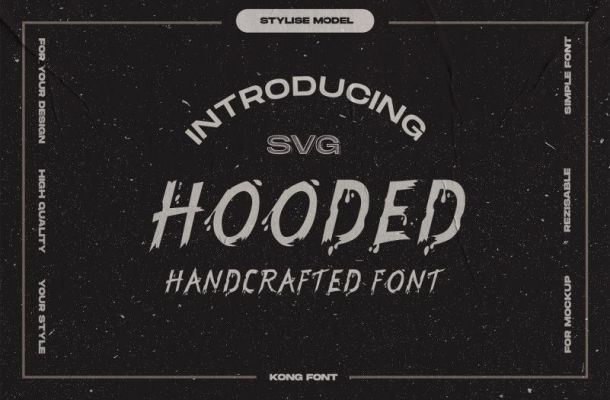 Hooded Brush Font