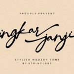 Ingkar Janji Stylish Script Font