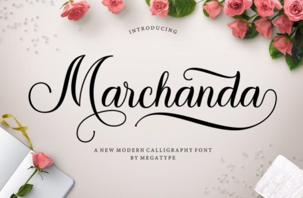 Marchanda Calligraphy Font