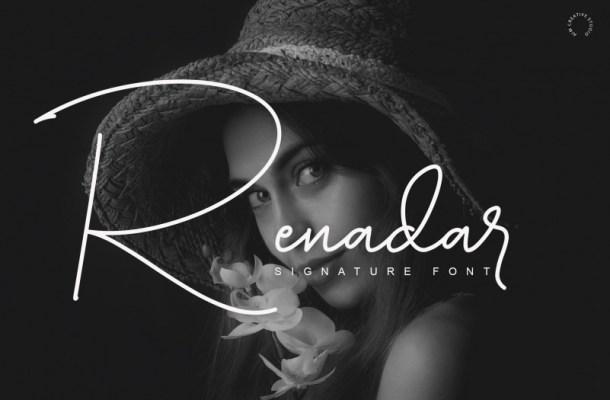 Renadar Signature Font