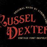 Russel Dexter – Retro Vintage Font