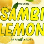 Sambi lemon Display Font