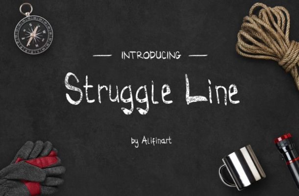 Struggle Line Brush Font