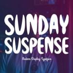 Sunday Suspense Display Font
