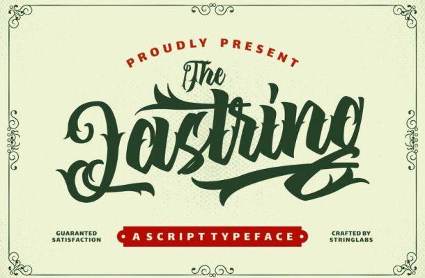 The Lastring Tattoo Script Font