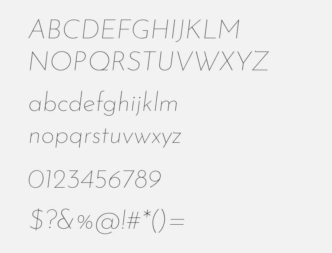 2 Josefin Sans thin italic font