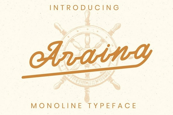 Araina Monoline Script Font