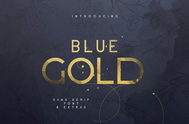 Blue Gold Sans Serif Font-1