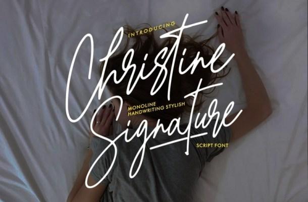 Christine Signature Font