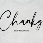 Chunky Handwritten Signature Font