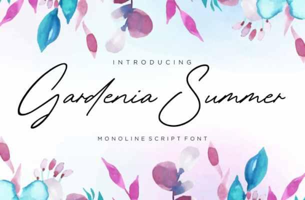 Gardenia Summer Monoline Font