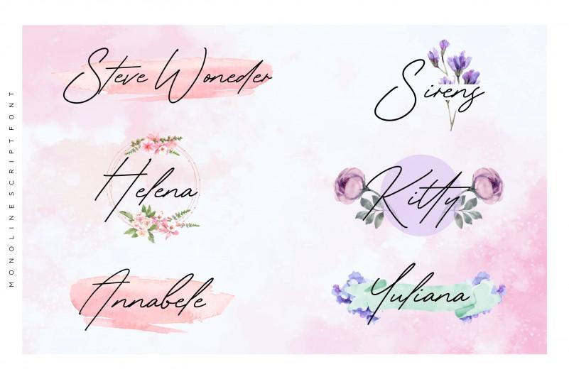 Gardenia Summer Monoline Script Font-2