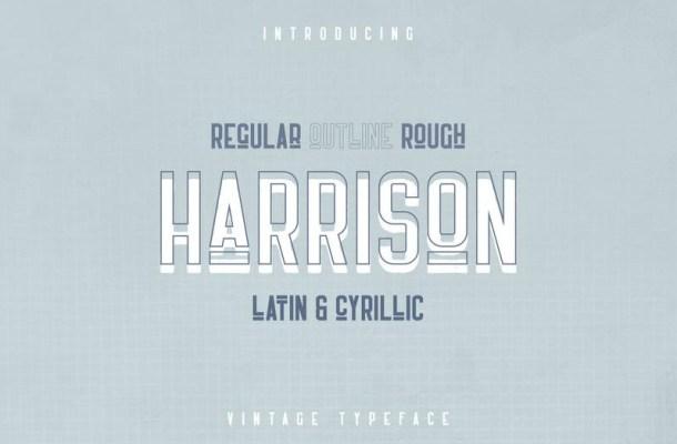 Harrison Retro Typeface