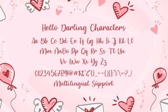 Hello Darling Script Font-3