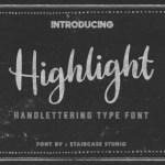 Highlight Script Font