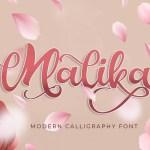 Malika Modern Calligraphy Font