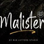 Malister Brush Font