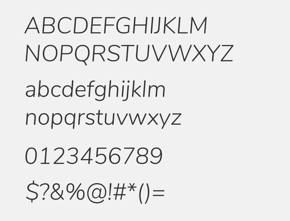 Nunito Light Italic font