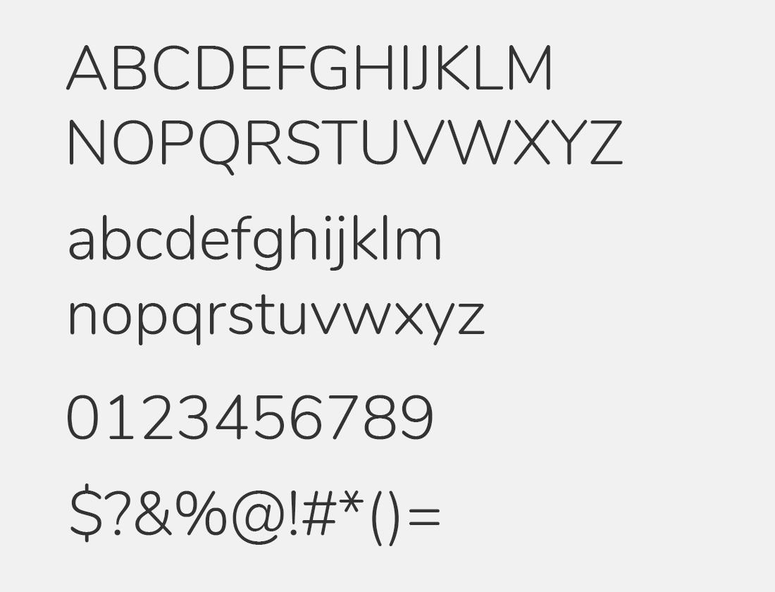 Nunito-Light font