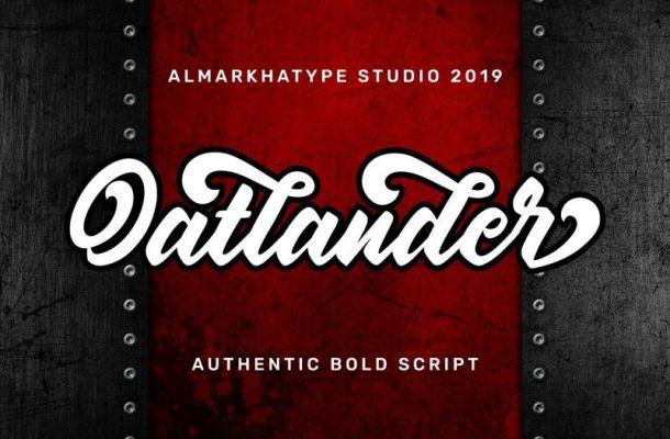Oatlander Bold Script Font