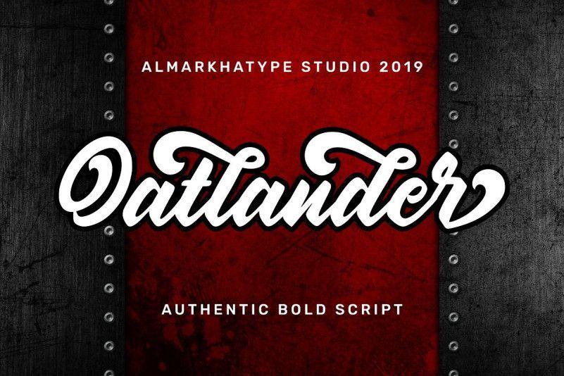 Oatlander Bold Script Font-1
