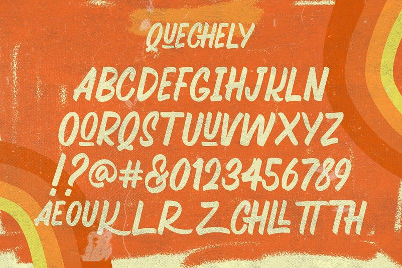 Quechely Sign Retro Layered Font-3