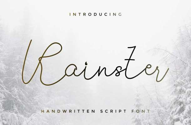 Rainster Handwriting Font