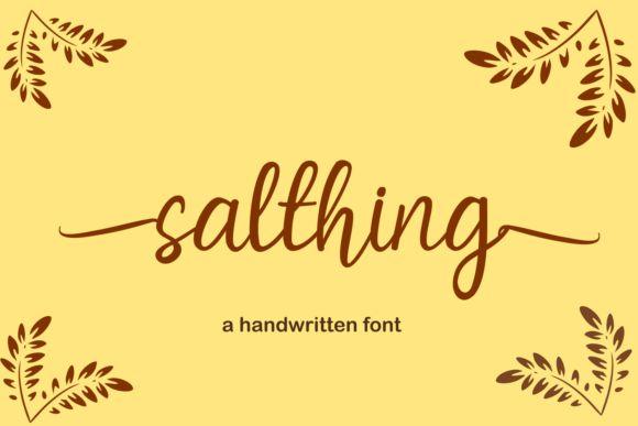 Salthing Script Font