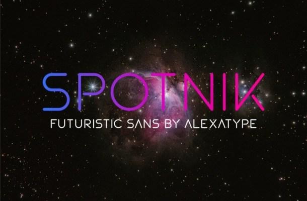Spotnik Ultra Modern Space Font