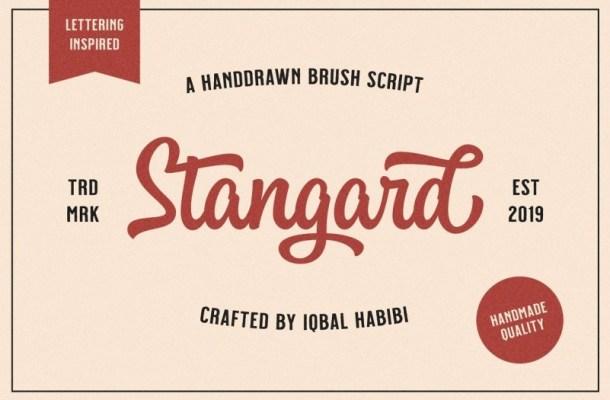 Stangard Handbrush Font