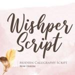 Wishper Modern Script Font