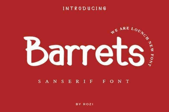 Barrets Sans Font