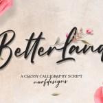 Better Land Classy Script Font