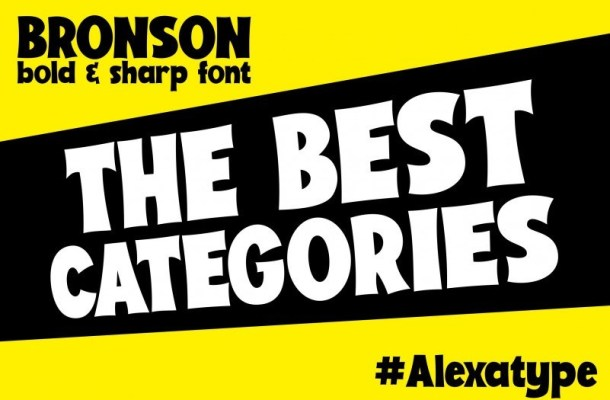 Bronson Display Font
