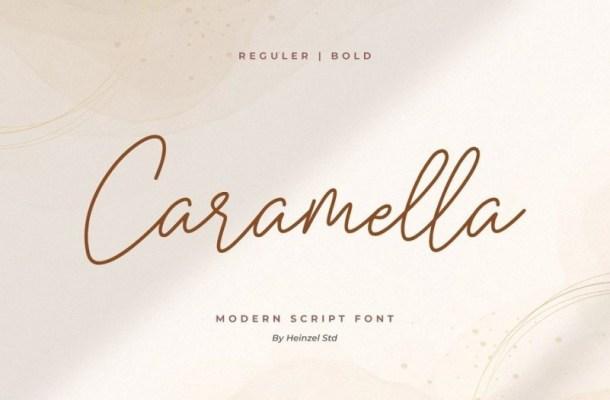 Caramella Monoline Signature Font