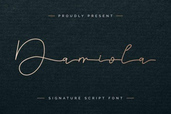 Damiola Signature Font