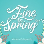 Fine Spring Calligraphy Font