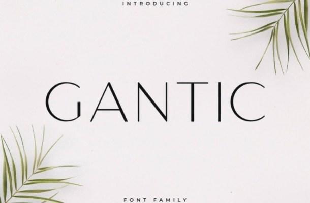 Gantic Sans Serif Font Family