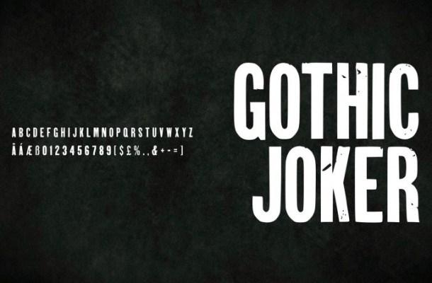 Gothic Joker Display Font