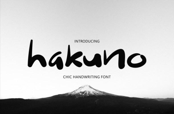 Hakuno Handwritten Font