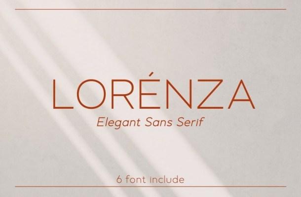 Lorenza Elegant Sans Font Family