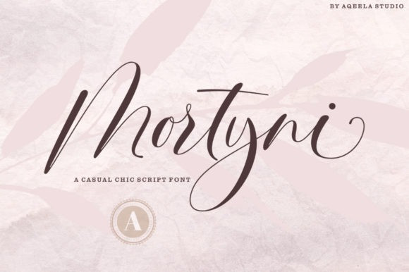 Mortyni Casual Chic Script Font