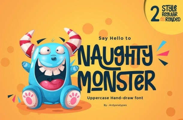Naughty Monster Display Font