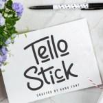 Tello Stick Monoline Script Font