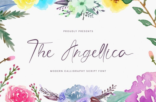 The Angellica Calligraphy Font