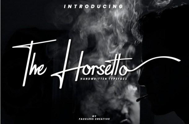 The Horsetto Signature Font