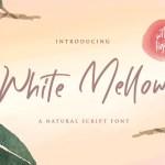 White Mellow Handwritten Font
