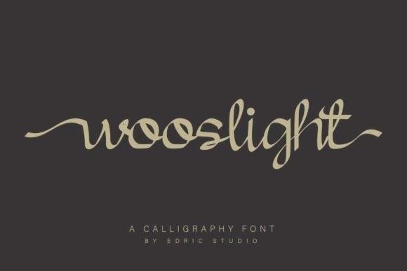 Wooslight Calligraphy Font