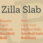 Zilla Slab Serif Font Family