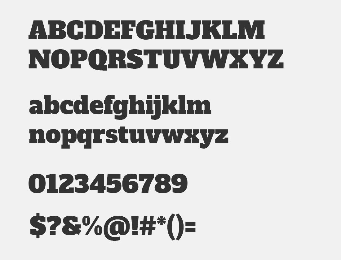 103 alfa Slab One font